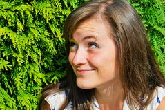 Beautiful girl outdoors Stock Image