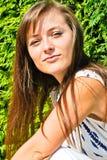 Beautiful girl outdoors Royalty Free Stock Image