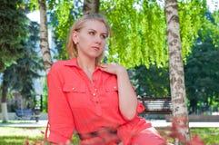 Beautiful girl outdoors Stock Photos