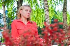 Beautiful girl outdoors Stock Photo