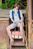 Beautiful girl outdoors Stock Images