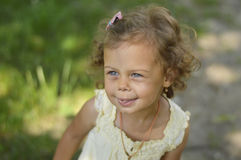 Beautiful girl outside Royalty Free Stock Images