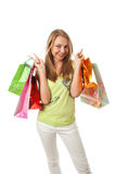 The beautiful girl with packages Stock Photos