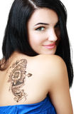 Beautiful girl painted Mehandi Royalty Free Stock Images