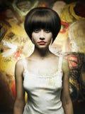 Beautiful girl painter Stock Photos