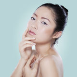 Beautiful girl after pampering her skin Royalty Free Stock Photo