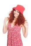 Beautiful girl in panama hat Royalty Free Stock Photos