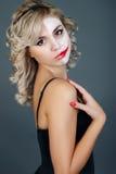 Beautiful girl pantomime Stock Image