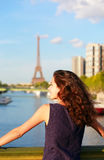 Beautiful girl in Paris Royalty Free Stock Photography