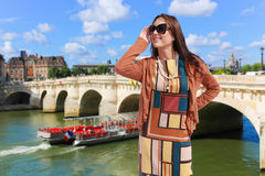 Beautiful Girl at Paris. Royalty Free Stock Image
