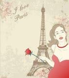 Beautiful girl in Paris Royalty Free Stock Photos