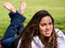 Beautiful Girl In Park Royalty Free Stock Photos