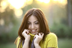 Beautiful girl in the park Stock Photography