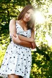 Beautiful girl in the park Royalty Free Stock Image