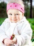 Beautiful girl in the park Royalty Free Stock Photo