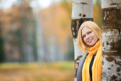 Beautiful Girl in Park Stock Photos