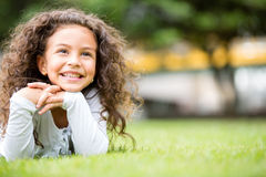 Beautiful girl at the park Stock Photo