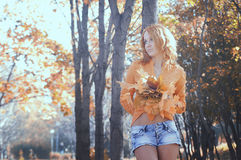 Beautiful girl in the Park Stock Photo