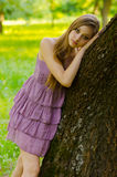 Beautiful girl in the park Royalty Free Stock Images