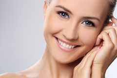 Beautiful girl with perfect face Stock Images