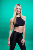 Beautiful girl with perfect fit body Royalty Free Stock Photos