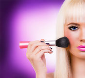 Beautiful girl with perfect make up Royalty Free Stock Photos