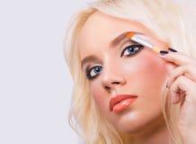 Beautiful girl with perfect makeup Stock Image