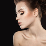 Beautiful girl with perfect skin. Beauty face Royalty Free Stock Images