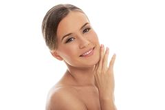 Beautiful girl with perfect skin Stock Photos