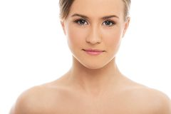 Beautiful girl with perfect skin Royalty Free Stock Images