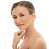 Beautiful girl with perfect skin Stock Photography