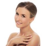 Beautiful girl with perfect skin Stock Photos