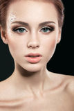 Beautiful girl with perfect skin Royalty Free Stock Image