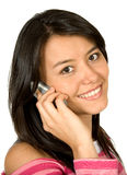 Beautiful girl on the phone Stock Photography