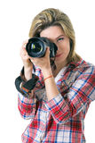 Beautiful Girl photographer. stock photos