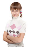 Beautiful girl with pigtail Stock Photo