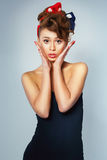 Beautiful girl in pin-up style Royalty Free Stock Photos