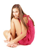 Beautiful girl in pink dress Royalty Free Stock Photo