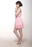Beautiful girl in a pink dress Royalty Free Stock Images