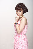 Beautiful girl in a pink dress Royalty Free Stock Photography