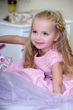 Beautiful girl in a pink dress Royalty Free Stock Image
