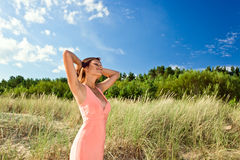 Girl in pink dress Royalty Free Stock Photos