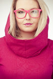 Beautiful girl with pink glasses Stock Photography