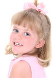 Beautiful Girl In Pink Over White Royalty Free Stock Images