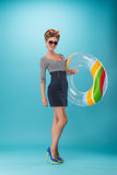 Beautiful girl in pinup style Stock Photos