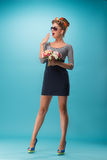 Beautiful girl in pinup style Royalty Free Stock Image
