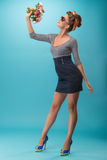 Beautiful girl in pinup style Stock Images