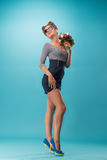 Beautiful girl in pinup style Royalty Free Stock Photography