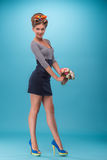 Beautiful girl in pinup style Royalty Free Stock Images