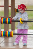 Beautiful girl play outdoor Royalty Free Stock Image